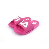《FILA》兒童 輕量運動拖鞋 粉紅白 2-S428U-551