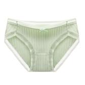 千奈美舒適蕾絲甜美清新女士內褲簡約純色中腰提臀透氣褲頭單條裝   圖拉斯3C百貨