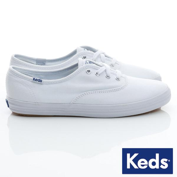 KEDS 經典款帆布小白鞋 W110002 女鞋 綁帶│平底│休閒