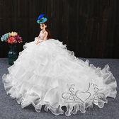 (中秋大放價)大號芭芘白雪公主洋娃娃婚紗兒童女孩玩具生日新年禮物套裝禮盒仙子