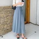 MUMU【P24166】側綁帶百褶雪紡寬褲裙。三色