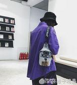 ins包包斜背包/側背包男運動新款街頭潮流嘻哈情侶胸包女單肩手機小背包      橙子精品