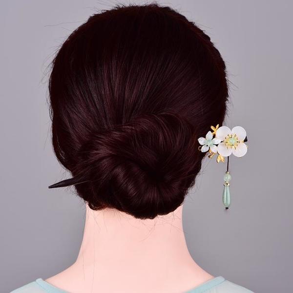 簡約現代簪子女古風髪簪旗袍漢服頭飾丸子頭盤髪髪釵頭花氣質夏 髪插