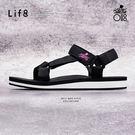 iStarKu X MRJ聯名款 尼龍織帶 配色涼拖鞋-黑色【09749】