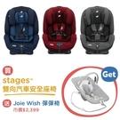 【贈Wish彈彈椅x1】奇哥 Joie Stages 0-7歲成長型安全座椅-黑/紅/藍【佳兒園婦幼館】