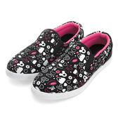 Disney  趣味俏皮 滿版塗鴉手繪懶人鞋-黑