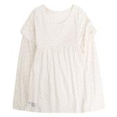 Gap女幼童 圓領長袖套頭T恤 497470-白色波點