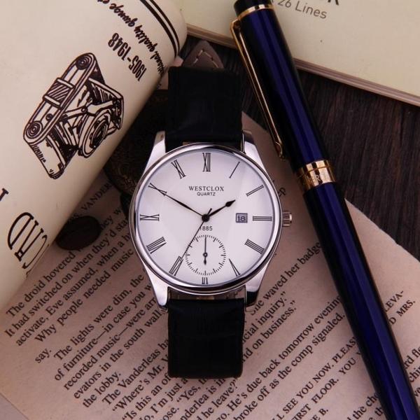 帶情侶手錶男士防水腕表時尚潮流女學生表運動簡約石英表機械 創意空間
