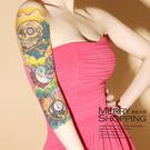 紋身貼紙 大圖花臂防水仿真刺青貼紙 身體彩繪圖案 -媚儷香檳- 【TT012】