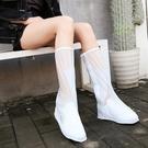 雨鞋套女高筒水靴雨天防水防雨防滑耐磨兒童加厚雨靴男套鞋 【快速出貨】