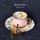 除舊迎新 意式濃縮咖啡杯套裝出口迷你咖啡杯碟花茶杯送女友閨蜜生日禮物