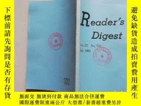 二手書博民逛書店【館藏書】Reader s罕見digest VOL.127 NO