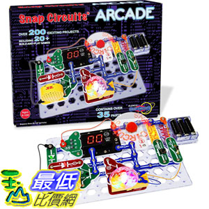 [8美國直購] Snap Circuits Arcade Electronics Exploration Kit | Over 200 STEM Projects | 4-Color Project Manual