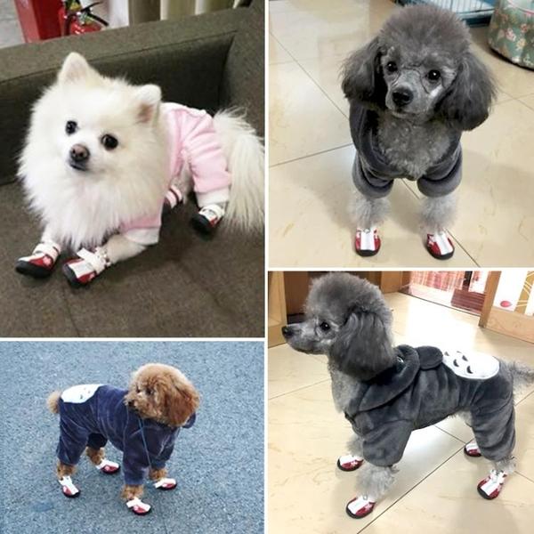 防水狗狗鞋子比熊泰迪博美貴賓寵物狗鞋