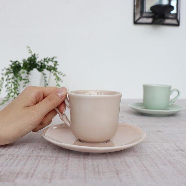 【義大利Tognana】FAVOLA 咖啡杯組200cc (下午茶組/ 杯具/ 淡雅粉)
