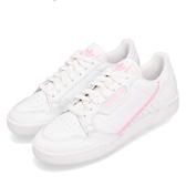 adidas 休閒鞋 Continental 80 W 白 粉紅 皮革 基本款 經典復刻 女鞋 運動鞋【PUMP306】 G27722