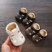 夏季寶寶涼鞋男童學步鞋0-6-12個月1一3歲包頭防滑軟底嬰兒女童2   夢曼森居家