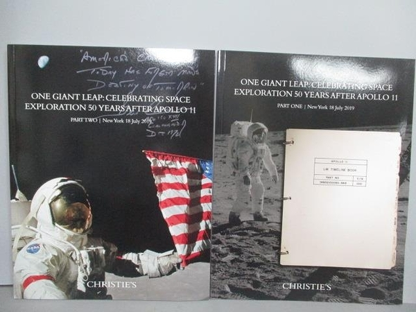 【書寶二手書T3/收藏_PLL】Christie s_One Giant Leap…Part I&II_2本合售_201