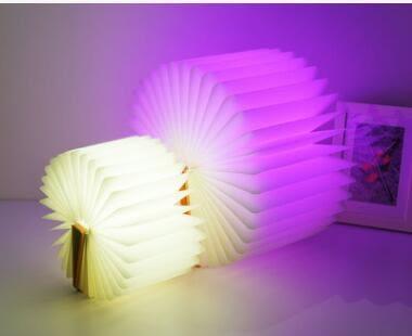 現貨 USB五彩變色書本燈 變色折疊書本燈 LED小夜燈