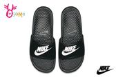 NIKE BENASSI JDI 拖鞋 成人男女款 情侶鞋 紓壓 按摩顆粒 運動拖鞋 P7139#黑色◆OSOME奧森鞋業