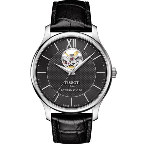 TISSOT TRADITION 古典風格自動機械錶 T0639071605800