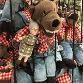 毛絨玩具大灰狼外婆兒童公仔玩偶