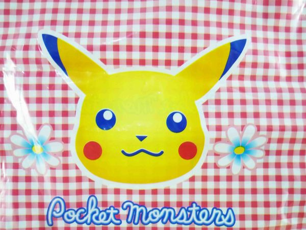 【震撼精品百貨】神奇寶貝_Pokemon~束口袋-皮卡丘(開心表情)-紅底