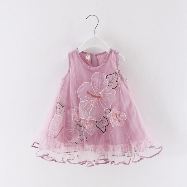 女寶寶洋氣裙子夏裝1-3歲衣服2小女童洋氣連身裙4兒童休閒公主裙5