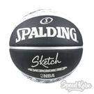 SPALDING NBA Rubber Sketch 17' 街頭素描 室外 7號球 SPA83534【Speedkobe】