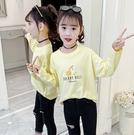 衣童趣(•‿•)韓版女童T恤 可愛字母印花 薄款長袖T恤 百搭上衣