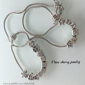 串珠風格款字母串珠造型項鍊 手鍊