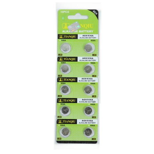 【GU319】環保型鈕扣電池/水銀電池AG9 936A 手錶電池(一卡10顆)~不拆售 EZGO商城