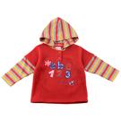 【愛的世界】彈性數字假2件連帽長袖上衣/2歲-台灣製- ★秋冬上著