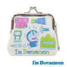 道具款【日本進口】哆啦a夢 小型 防震棉 珠扣包 零錢包 小叮噹 I'm Doraemon 三麗鷗 - 439606