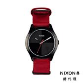 NIXON QUAD 帆布錶帶 深紅X黑 潮人裝備 潮人態度 禮物首選