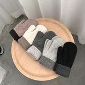 促銷款甜美可愛正韓卡通冬季手套女冬加厚保暖羊毛加絨學生針織手套交換禮物