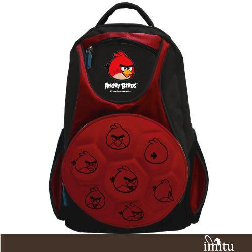 【Angry Birds 憤怒鳥】足球硬殼造型書背包(紅/藍_AB6019)