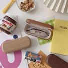 深淺色木質感紋路眼鏡盒防壓學生男女簡約便攜墨鏡盒【古怪舍】
