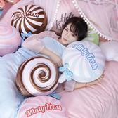 限定款棒棒糖午睡枕頭汽車抱枕被子兩用珊瑚絨腰靠枕靠墊空調被毯子