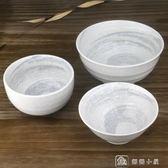 雪花釉餐具陶瓷碗家用拉面碗大湯碗簡約防燙高腳白瓷碗 全館單件9折