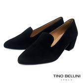 Tino Bellini西班牙進口溫潤全真皮樂福中跟鞋_黑 VI8528 歐洲進口款