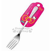 〔小禮堂〕Hello Kitty 日製不鏽鋼叉子《大.銀.大臉》可愛又實用 4991203-16751