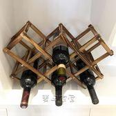 酒架 實木碳化紅酒架擺件創意葡萄酒架 家用酒瓶收納架歐式洋酒架jy 【快速出貨八折】