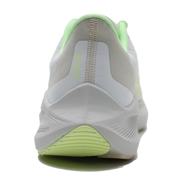 NIKE 慢跑鞋 ZOOM WINFLO 7 淺灰 螢光綠 漸層LOGO 訓練 健身 休閒 女 (布魯克林) CJ0302-100