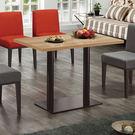 【森可家居】韋伯4尺木面餐桌(不含椅) 7ZX853-2 商用 餐廳 咖啡廳 木紋質感 黑鐵桌腳