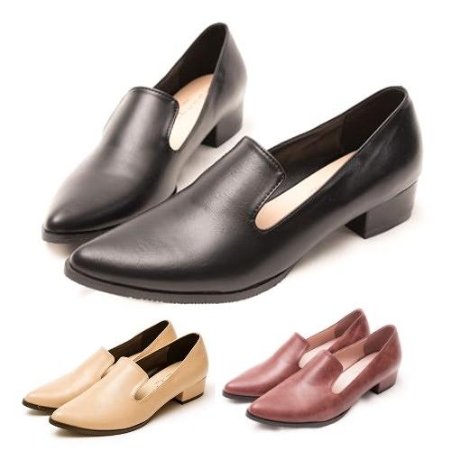 樂福包鞋.MIT氣質簡約尖頭低跟鞋.白鳥麗子