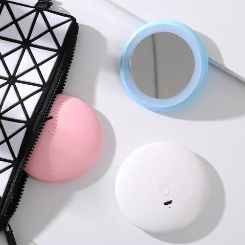 【超取499免運】LED甜甜圈美妝鏡 化妝鏡 便攜帶 抖音網紅補光鏡