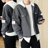 工裝夾克男牛仔外套連帽韓版潮流修身帥氣休閒學生寬鬆褂子 黛尼時尚精品