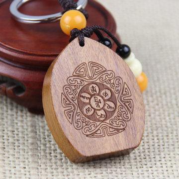 黃楊木桃木千手觀音鑰匙扣 W223