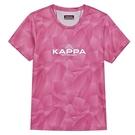 KAPPA義大利女吸濕排汗速乾女生針織圓領杉-莓紅 34168GWV27